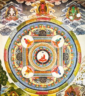mandala de buddha de la Sanación