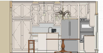 Lowes Island Kitchen Plan