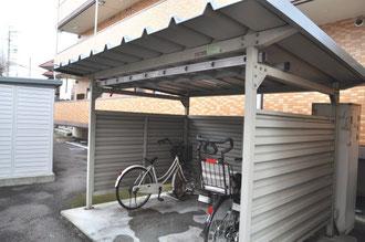 自転車置き場も余裕のスペース