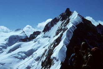 Biancograt mit Piz Bernina 4049m