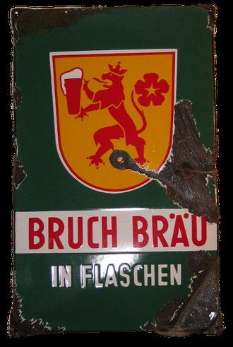 Bruch Brauerei Emailleschild Saarbrücken