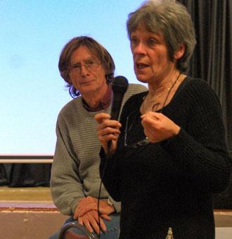 Jocelyne Willot et Philippe Chesneau à Salernes mars 2016