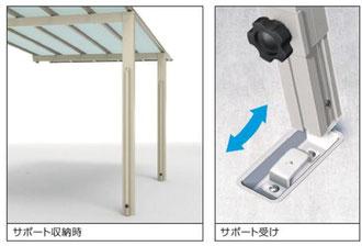 着脱式サポートセット+パネル抜け防止材