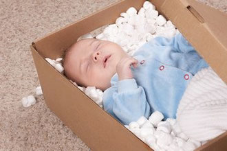 Lieferung mit dem Babyexpress