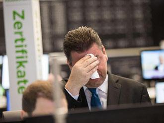 Robert Halver, Kapitalmarkt-Experte der Baader Bank, im Handelssaal der Börse, nachdem die Briten für einen EU-Austritt gestimmt haben. Foto: Frank Rumpenhorst
