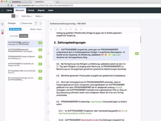 Mit dem kostenlosen Onlinedienst smashdocs lassen sich Korrekturen und Bemerkungen im Team bequem nachvollziehen. Foto: smashdocs.net