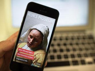 Die Startseite der App des Rijksmuseum Amsterdam. Foto: Matthias Balk