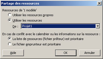 Ressources en multiprojet