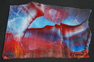 Ragged Landscape - Encaustic Wax Painting - by Anne Berendt