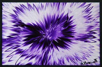 Purple Haze - Encaustic Wax Painting - by Anne Berendt