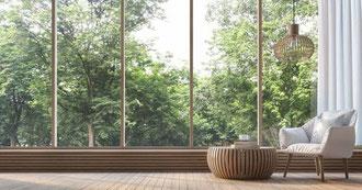 Panoramafenster - Passivhaus - Niedrigenergiehaus - Fenstertechnik - Fensterbau - Hausplanung