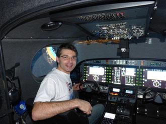 Nachtflug auf einer Citation II! zu sehen ist bereits die Landebahn KLU.