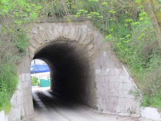 Arch under aqueduct