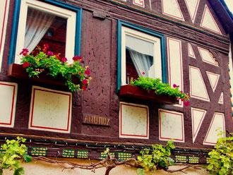 gut erhaltene Fachwerk-Häuser sind in Runkel zu sehen