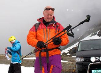 fertigmachen zur Skitour