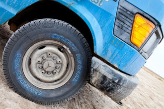 Unsere neuen blauen Reifen