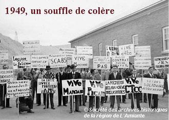 Grève des ouvriers de l'amiante, 1949
