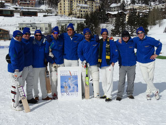 St Moritz Cricket Club at Cricket on Ice 2016