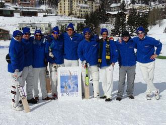 St Moritz Cricket Club at Cricket on Ice 2016