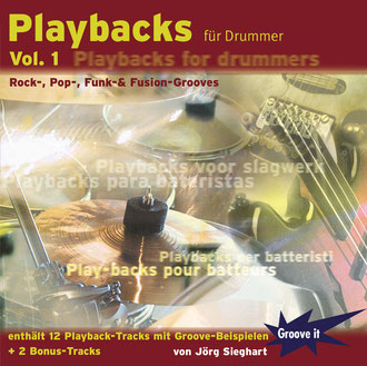 Playbacks für Drummer Vol. 1 - Funk-, Rock-, Pop-, & Fusion-Grooves