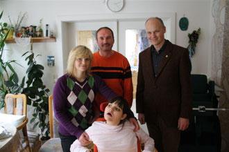 Familie Herler mit dem Clubpräsident Mag. Heinrich Damm