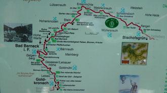 Wandern auf dem Jean Paul Weg in Oberfranken