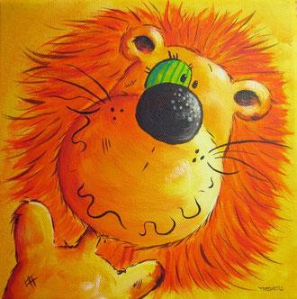 Überaus gefährlicher Löwe, Raubtierbild, Raubkatzenbild
