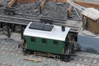 Detail des Vorfeldes des Lokomotivdepots (Bahnbetriebswerk) auf der Spur 0 Modelleisenbahnanlage des Berner Modell-Eisenbahn-Club (BMEC) im Herbst 2012
