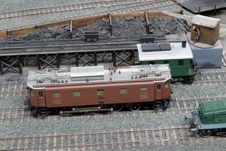 Vorfeld des Lokomotivdepots (Bahnbetriebswerk) auf der Spur 0 Modelleisenbahnanlage des Berner Modell-Eisenbahn-Club (BMEC) im Herbst 2012