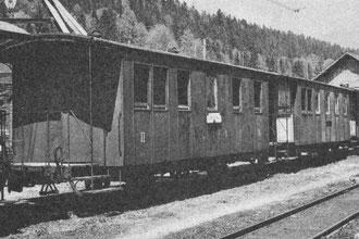 Die beiden PSC BC2 1 und 2 in Ponts-de-Martel im Jahre 1950.