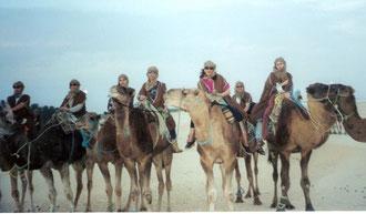 Excursión en dromedario en el Sáhara