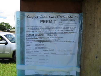 Permit Seawall - Villa Sanibel Shell