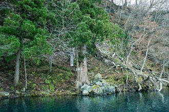 占い場。南祖坊は龍になり、この場所から入水したと云われている