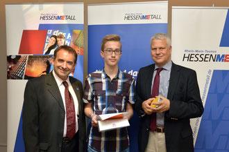 Edwin mit Kultusminister und Hessen-Metall-Vorsitzendem