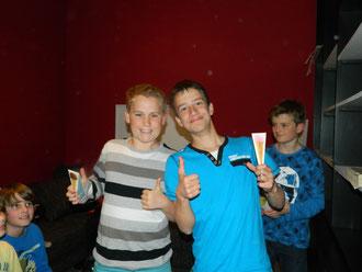 Sieger des Triathlons war das Team SESI (Sebastian&Silas)
