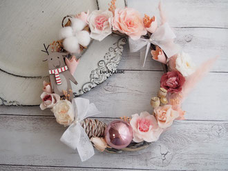 「Christmas Blooming  Wreath」