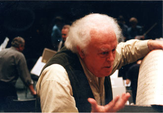 Brian Pollard during Rehearsals with Gustav-Mahler-Jugendorchester Salzburg 1998