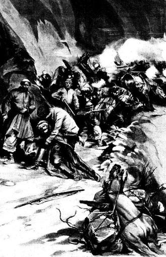 Attaque et mort de Dutreuil de Rhins