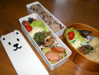 お父さんお弁当箱でお昼ごはん♪