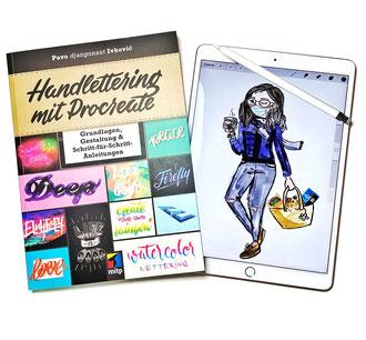 Handlettering digital / iPad-Lettering mit Procreate von Ana Luiza Cavalcanti