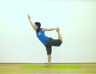 ヨガポーズ :ダンサーのポーズ
