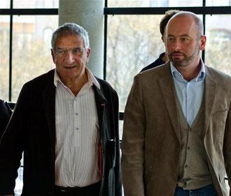 Le Dr Xavier Emmanuelli et Stéphane Gemmani