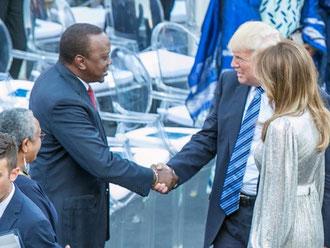 Donald Trump e Uhuru Kenyatta al G7 di Taormina