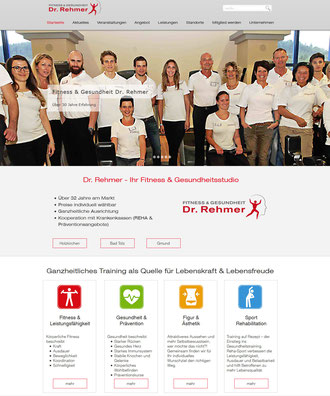 Webseite Dr. Rehmer Fitness & Gesundheit