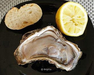 Ferienwohnung-Valencia, geöffnete Auster