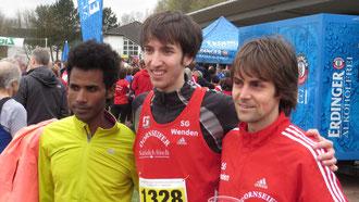 1:30:29 Std.: Mannschaft der Superlative: Eyob Solomon, Tim Sidenstein und Alexander Henne