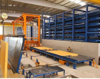Carruseles fabricación placas hormigón