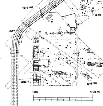 Abb. 3: Vergrößerter Grabungsplan einer Kohorteninsulae, (c) LWL