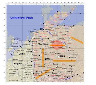 Abb. 1: Ein Ort Luppia östlich der Weser ?