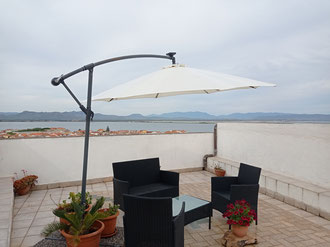 """""""The Belvedere"""" private terrace overlooking the Lagoon and the Palmas Gulf"""